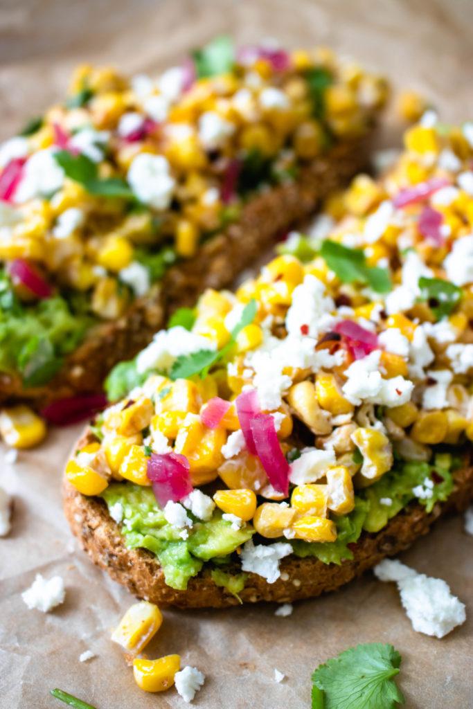 Avocado Corn Toast